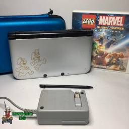 Nintendo 3ds Xl Edição Especial Mario & Luigi + 18 Jogos e Lego Marvel