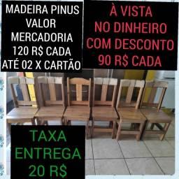 Título do anúncio: cadeiras de madeira reforçadas nova