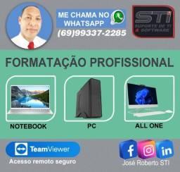 Título do anúncio: Formatação Profissional ou atualização Sem BKP R$70,00 - Prazo de entrega 24