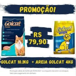 Promoção Kit Ração + Areia por 79,90
