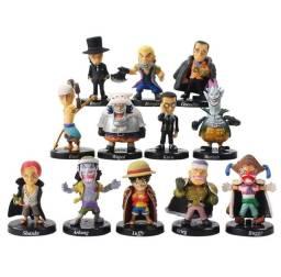 Coleção 12 Action Figure miniatura boneco One Piece 5cm