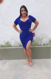 Vestido azul royal TAM ÚNICO