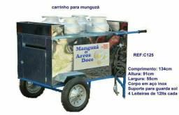 Título do anúncio: Carrinho para Manguzá,Sopas , Caldos em inox c/4 leiteiras de 10L