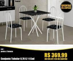 Título do anúncio: Conjunto de Mesa com 4 Cadeiras em Super Promoção