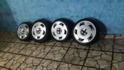 Título do anúncio: Vendo aro 17 horbital ideal gol,parati,...só 3 pneus bom um deles e de outra medida