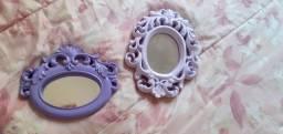 Espelhos decorativos- tons violeta