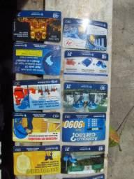 20 cartões telefonicos