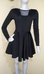Título do anúncio: Vestido rodado preto tamanho P/M