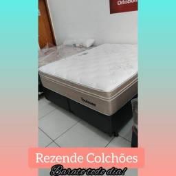 Título do anúncio:  :: Mega Promoção cama box+ Colchão Toulose Queen 158x198