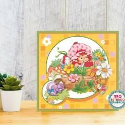 Placa Decorativa Moranguinho- Tam: 20cm x 20cm -