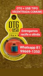 OTG TIPO V8(ENTRADA COMUM) + USB