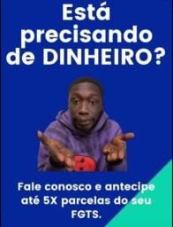 Título do anúncio: ANTECIPAÇÃO DO FGTS ATÉ 24h NA SUA CONTA