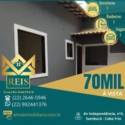 Título do anúncio: RI Casa com 1 dormitório à venda, por R$ 70.000,00 - Unamar - Cabo Frio/RJ
