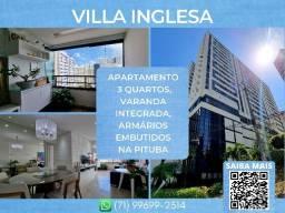 Título do anúncio: Villa Inglesa, 3 quartos em 90m² com 2 vagas de garagem na Pituba - Espetacular