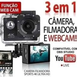 Título do anúncio: Câmera de Ação Tipo Go Pró 4K HD com Wi-Fi