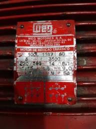 Título do anúncio: motor eletrico WEG 5 CV trifasico usado 3500 RPM