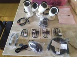 Kit cftv 4 cameras coloridas p/seguranca da sua casa ou comercio