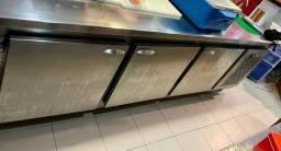 Título do anúncio: Balcão refrigerado 3 portas com 2 pias
