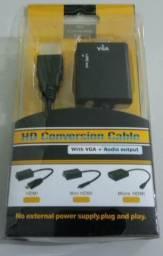 Conversor HDMI para VGA Novo URGENTE!