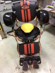 Cadeira Barbeiro Harley Davidson Arte Exclusiva