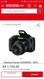 Camera fotográfica canon com Wi-Fi