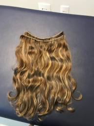 Duas faixas de megahair cabelos naturais