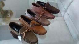 Sapato couro mocassim drive de ótima qualidade