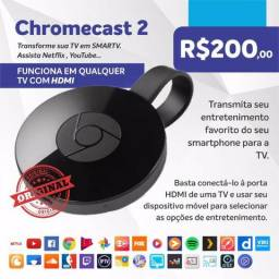 Chromecast 3 geração original transforme sua TV em smart tv