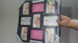 Porta retratos 9 fotos 15cmx10cm (novo, lacrado)