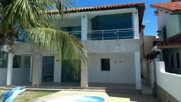 Casa Mobiliada 6/4, Piscina, churrasqueira em Barra de Jacuípe, condomínio, frente ao RIO
