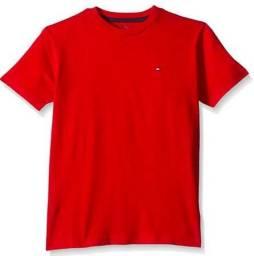 Camiseta algodão Tommy Hilfiger - Vermelho