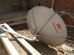 Antena Sky com suporte 75 reais