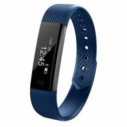 Pulseira e relógio inteligente, smartband id 115