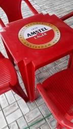 Mesas /cadeiras de plástico para uso externo