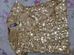 Blusa feminina dourada nova