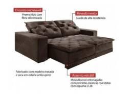Queima de Estoque!! Sofá Retrátil e Reclinável 2,50m - Frete Grátis