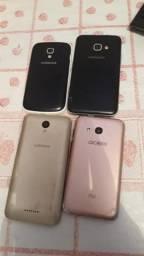 Vendo ou troco 04 celular ,200 reais ,por outro celular que esteja funcionando