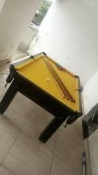 Mesa Tentação Bilhar | Mesa Tabaco | Tecido Amarela |JAHC2439