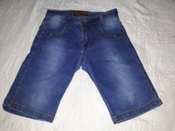Bermuda jeans Tam.10 anos masculina