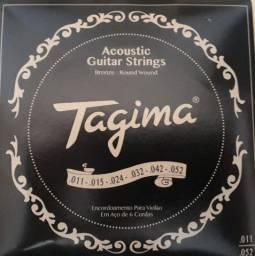 Encordoamento violão aço 0.11 Tagima