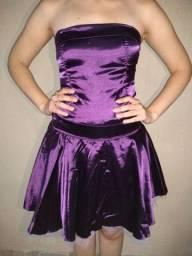 Vestido de festa curto roxo
