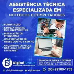 Serviço de manutenção, formatação e limpeza de notebooks e desktops