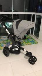 R$ 1000,00 Carrinho de bebê 3Tec ABC Design estampa Track