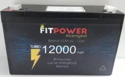 Bateria 6V 12ah VRLA Brinquedo Carrinho Bandeirantes