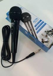 Microfone com fio produto novo r$ 100 entrego