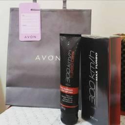 Kit AVON perfume 300km/h Max turbo + gel de barbear 300km/h Turbo Care