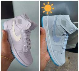 Título do anúncio: Tênis Nike Botinha Jordan muda de cor no Sol