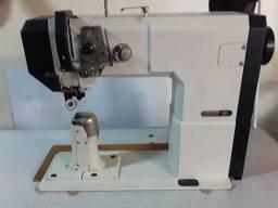 Maquina de costura de coluna transporte triplo