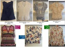 Título do anúncio: Blusas e casacos TAM P - Zara, Osklen, Polo Ralph Lauren etc