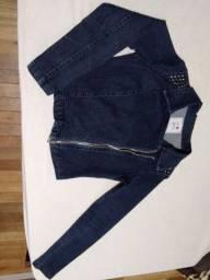 Jaqueta jeans azul tamanho 42
